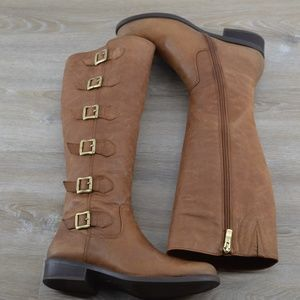 BCBGeneration Shoes - BCBGneration tan leather knee-high boots
